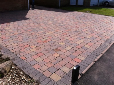 block paved drivway