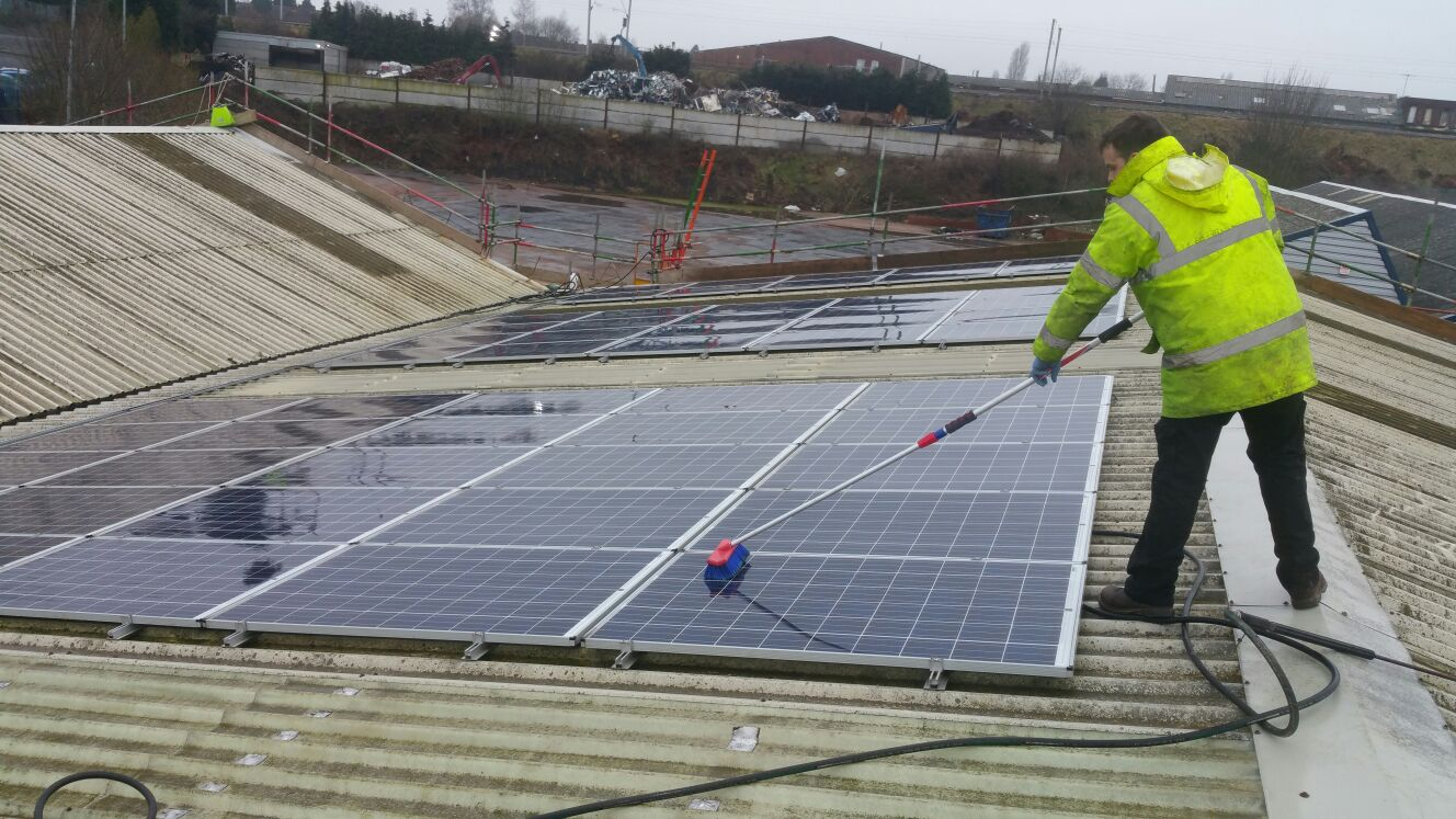 Commercial Industrial Solar Panel Cleaning Services