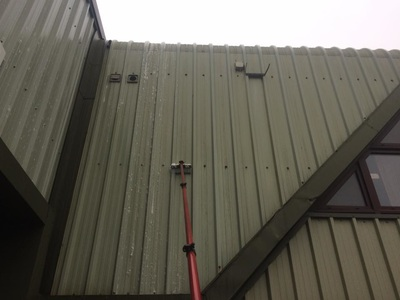 during cladding clean