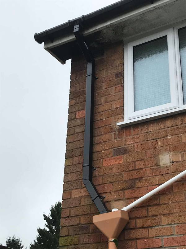 Repaired Downpipe