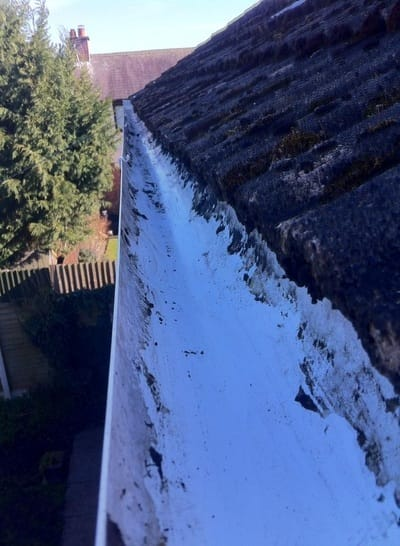 gutter after clean